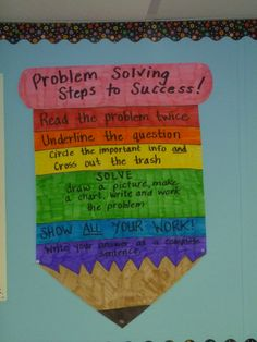 Math Problem Solving steps - http://theteachingthief.blogspot.com/2011/09/problem-solving-pencils-inspired-by-oh.html
