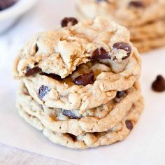 Marshmallow, Pecans and Rice Cereal Chocolate Chip Cookies.