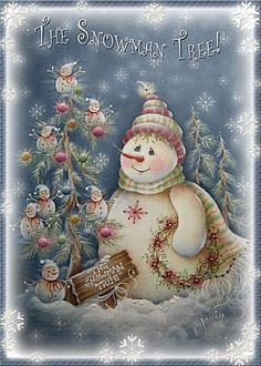 New vintage christmas snowman greeting card 18 ideas Snowman Tree, Snowman Cards, Cute Snowman, Christmas Snowman, Winter Christmas, Christmas Time, Christmas Crafts, Christmas Ornaments, Christmas Wishes
