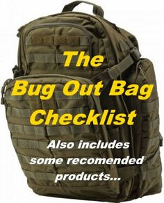 Bug Out Bag List: Includes Recommended Products!