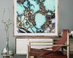 Mineral Photography - (Print #032)  Raw Mineral-  Fine Art Print - Two Paper Choices- Mineral Geode Agate Crystal Decor