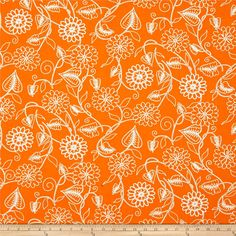 Designed by Barbara Jones for Henry Glass & Co, this retro mod cotton print collection features fun geometric prints that would look right at home in a or bungalow! Perfect for quilting, apparel, and home decor accents. Colors include orange and white. Fabric Design, Quilt Design, Orange Fabric, Clean Living, Fabulous Fabrics, Quilting Designs, Fabric Crafts, Accent Decor, Arts And Crafts