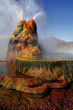 Fly Ranch Geyser in Nevada, USA
