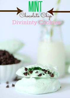 Mint Chocolate Chip Divinity Cookies