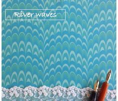 Marbling Comb: River waves Mia Valdez© http://www.spoonflower.com/designs/3948079
