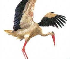 "Stork Greeting Card 6"" x 6"" (15.24cm x 15.24cm) £2.25"