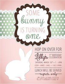Lilly's Bunny Themed 1st Birthday