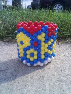 Pokemon Logo Pikachu Kandi Cuff Rave PLUR by GotKandi on Etsy, $7.00