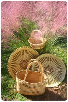 Charleston Original Hand-Made Sweetgrass Baskets : Nearly 400 years ago, Lowcountry slaves brought (from West Africa) their craft of weaving baskets from a local grass.