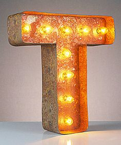 This 12'' T Vintage Marquee Light is perfect! #zulilyfinds ($110)