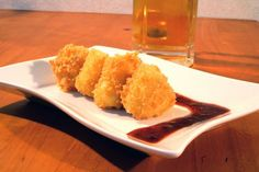 Fried Camembert with Raspberry KimChi Sauce