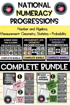 National NUMERACY PROGRESSIONS Complete Bundle. Australian Curriculum