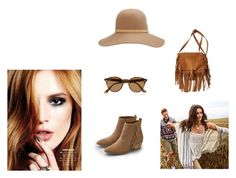 Brown by la-promenade on Polyvore featuring moda, American Eagle Outfitters, rag & bone and Ray-Ban
