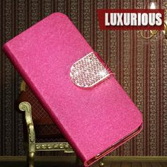 Luxury Leather with diamond Case cover For HTC Droid DNA X920d Butterfly /J phone bag with diamond and stand function