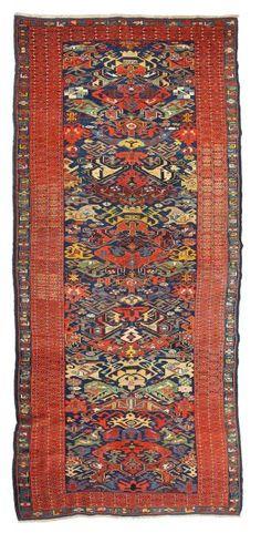 SEÏKHOUR (Caucase), fin du 19e siècle. 292 x 119cm