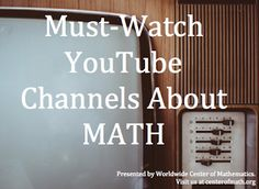 Who loves watching math videos? If you are looking for some new math #YouTube channels, then check out our blog this week where we talk about some of our favorites channels.   http://bit.ly/1hQ2RZ3