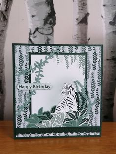 Scrapbook Cards, Scrapbooking, Birthday Cards, Happy Birthday, Stamping Up Cards, Animal Cards, Wild Animals, Lions, Stampin Up