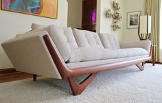New Upholstery Mid Century Adrian Pearsall Craft Associates Sofa   eBay