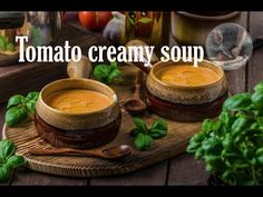 Delicious tomato creamy soup by Creative Kitchen recipe. Very tasty and fast soup! Ingredients: 4 tomatoes red pepper 1 piece of onion 2 pcs of cloves o. Kitchen Recipes, Latte, Channel, Soup, Creative, Youtube, Soups, Youtubers, Youtube Movies