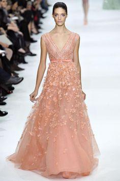 Peach Dress from Elie Saab 2012-2013