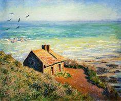 Cabane des douaniers, effet du matin (C Monet - W 736),1882.