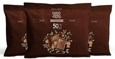 ChocZero 50% Dark Chocolate, Sugar free, Low Carb. No Sugar Alcohol, No Artificial Sweetener, All Natural, Non-GMO - (3 Bags, 30 Pieces)
