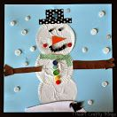 Cupcake Liner Snowman Craft via I Heart Crafty Things