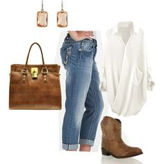 """""""Cowgirl Casual"""" by mblomfelt on Polyvore"""