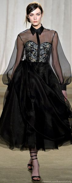 Marchesa F/W 2013 RTW, large volumes of the sleeves from the nineties