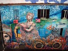 "Carlos Atoche, ""Song for the Sirena"" in Torpignattara, Rome , 2017, detail"