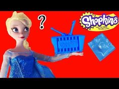 Disney Frozen Queen Elsa Shopkins Blind Bag Opening Surprise Mystery Kawaii Food Toy Review Doll