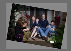 Straightening tool in Photoshop Elements 11