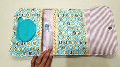 Acompanhe o passo à passo de como fazer um porta kit higiene do bebê de tecido.