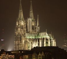 This magnificent Gothic Cathedral dominates the skyline of Cologne Germany.