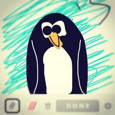 My penguin, on draw something.