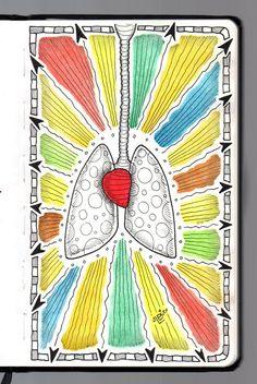 Ilustrador Alexiev Gandman: Hay pulmones de papel en mi libreta Brügge