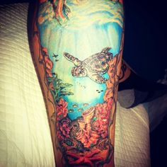 Tattoo - Updated ocean / underwater tattoo by - Ranz