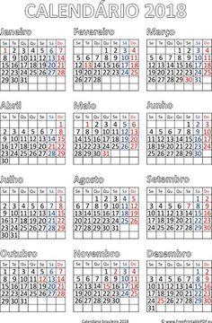 calendrio de impresso brasileiro 2018 pdf