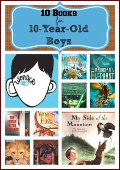 10 Books for 10-Year-Old Boys --> great list! definitely must check some of these books! #weteach
