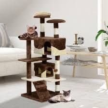 This PawHut deluxe cat tree is a perfect choice for your cats - a great place for them to play, scratch, explore and relax. It features 2 spacious condos, 3 perches, 2 hanging toy and 1 ladder for your cat to explore and entertain themselves. Cat Scratching Tree, Sisal Rope, Natural Instinct, Cat Condo, Home Safes, Pet Furniture, Kittens Playing, Cat Tree, Particle Board