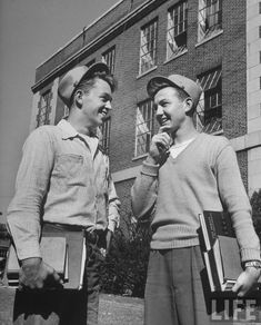 Two high school teens 1940s