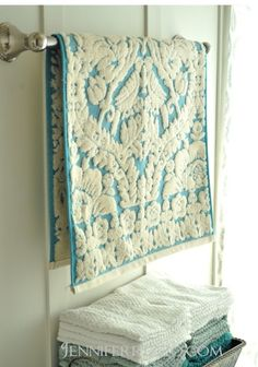 Anthropologie towels #anthropologie #pinittowinit prob can't afford them but I LOVE these! Love how they look vintage!!