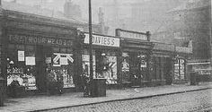 Shops on Great Clowes Street near Broughton Bridge, Salford, Old Pictures, Old Photos, Salford City, Modern History, History Facts, Dublin, Manchester, Past, Nostalgia