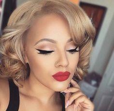 50's retro glam makeup