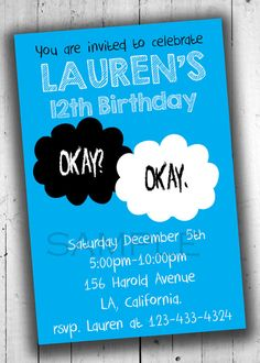 The Fault In Our Stars Party Invitation by PartyPrintableInvite