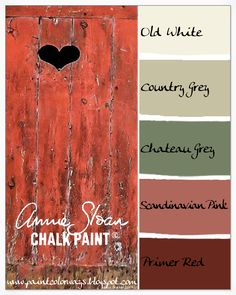 Colorways with Leslie Stocker » Pantone Color for 2015 Marsala = Annie Sloan Chalk Paint Primer Red
