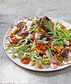 Roast-aubergine-salad-with-chickpeas-and-tamarind