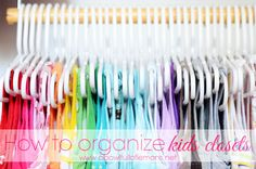 Kids Closet Organization via A Bowl Full of Lemons