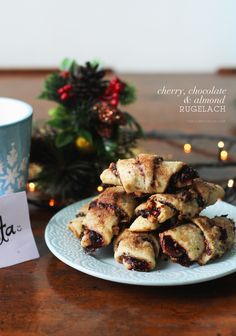 Cherry, Chocolate, Almond Rugelach Recipe | A deliciously flaky ...