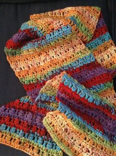 Cluster Stitch Scarf : FREE pattern